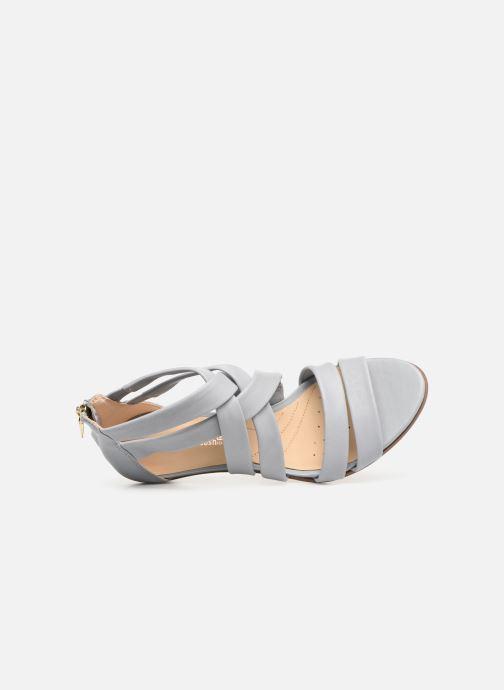 Sandales et nu-pieds Clarks Mena Silk Gris vue gauche