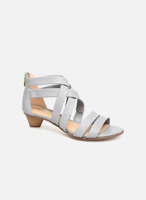Sandales et nu-pieds Clarks Mena Silk Gris vue détail/paire