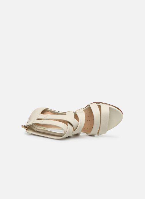 Sandales et nu-pieds Clarks Mena Silk Blanc vue gauche