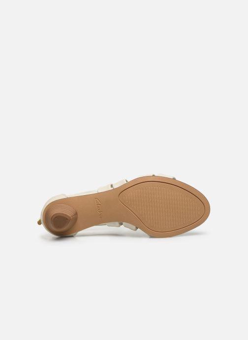 Sandales et nu-pieds Clarks Mena Silk Blanc vue haut