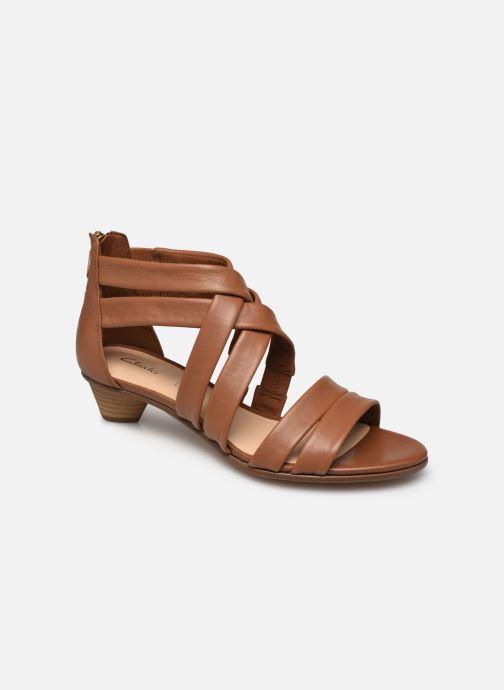 Sandales et nu-pieds Clarks Mena Silk Marron vue détail/paire