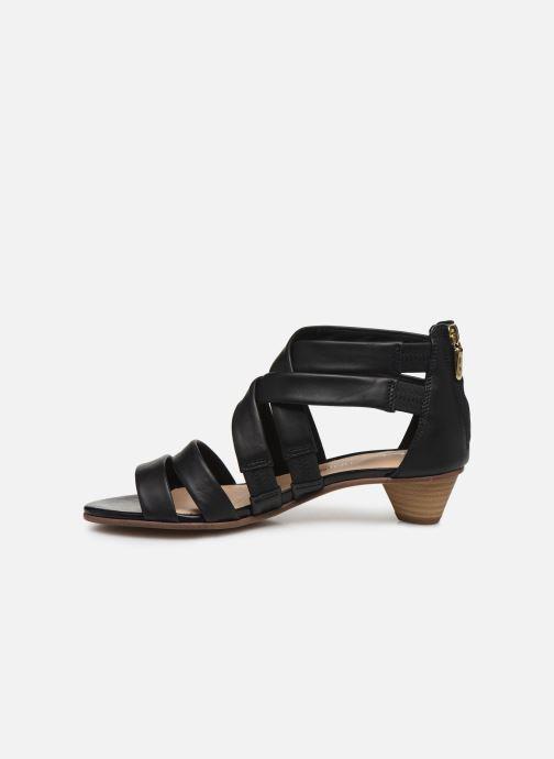 Sandales et nu-pieds Clarks Mena Silk Noir vue face