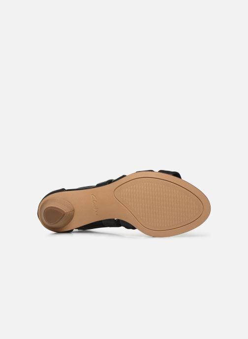 Sandales et nu-pieds Clarks Mena Silk Noir vue haut