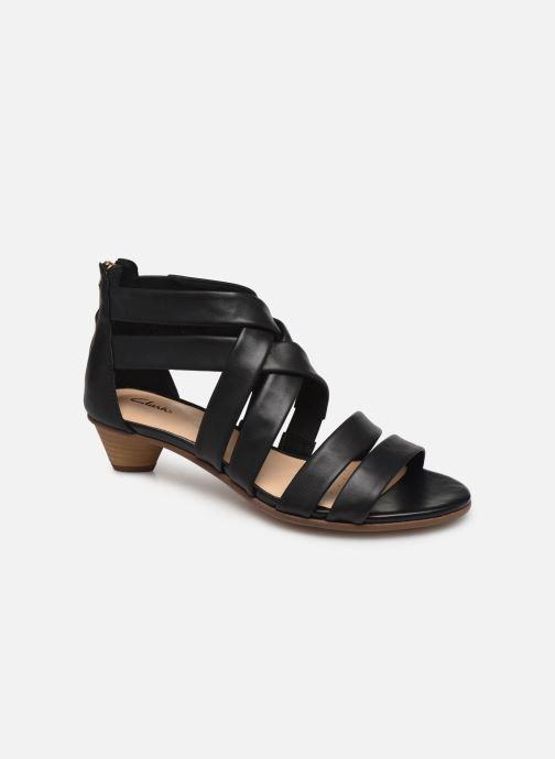 Sandales et nu-pieds Clarks Mena Silk Noir vue détail/paire