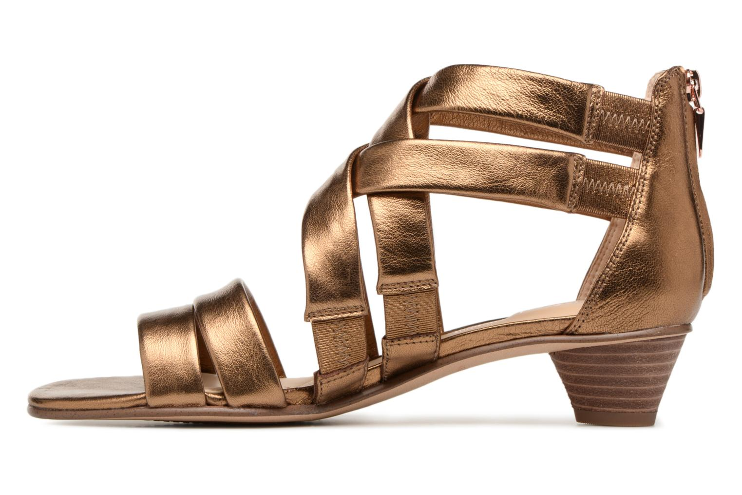 Sandals Clarks Mena Silk Bronze and Gold front view