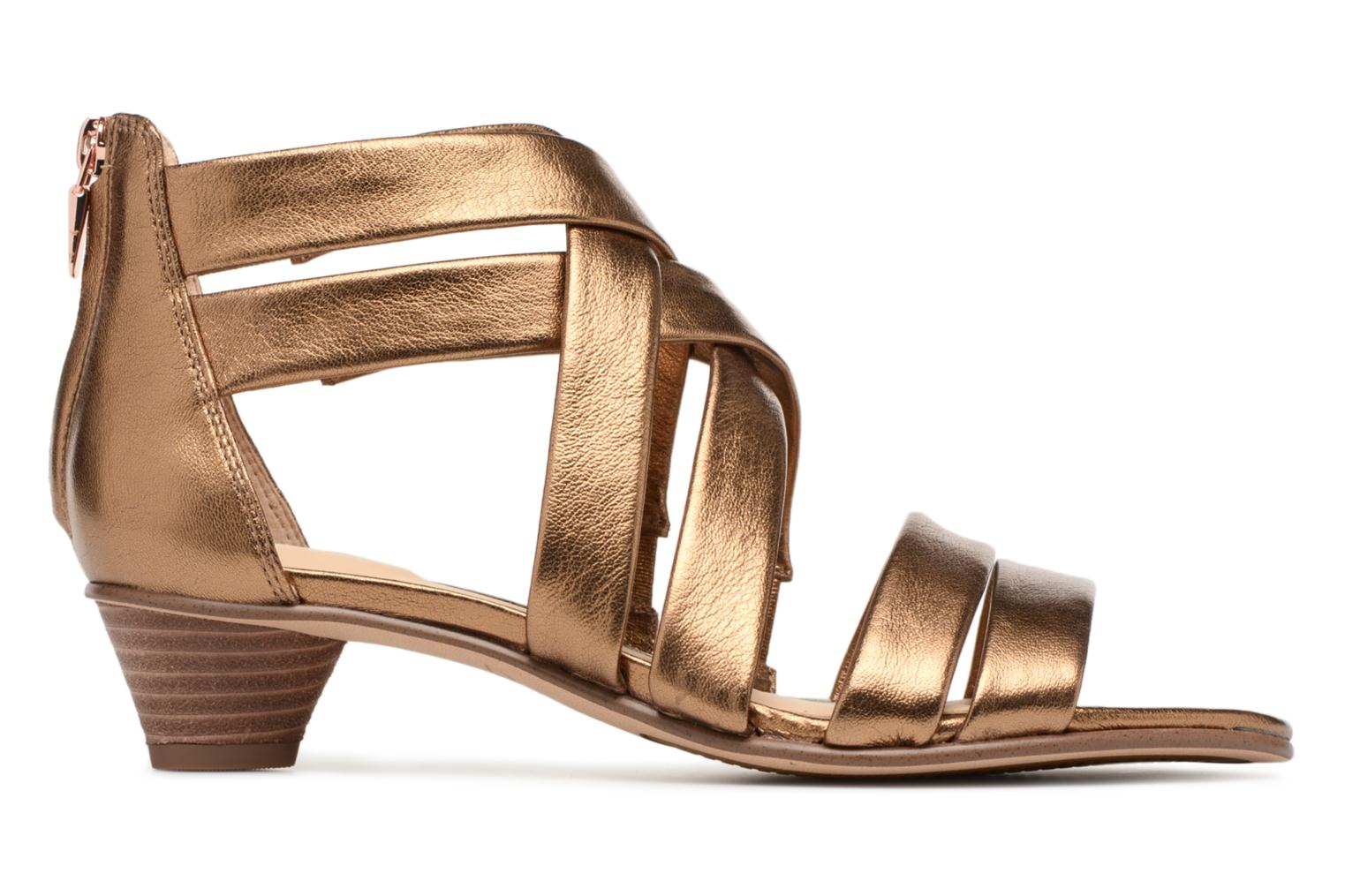 Sandals Clarks Mena Silk Bronze and Gold back view