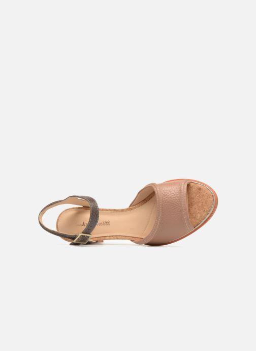 Sandales et nu-pieds Clarks Ellis Clara Beige vue gauche