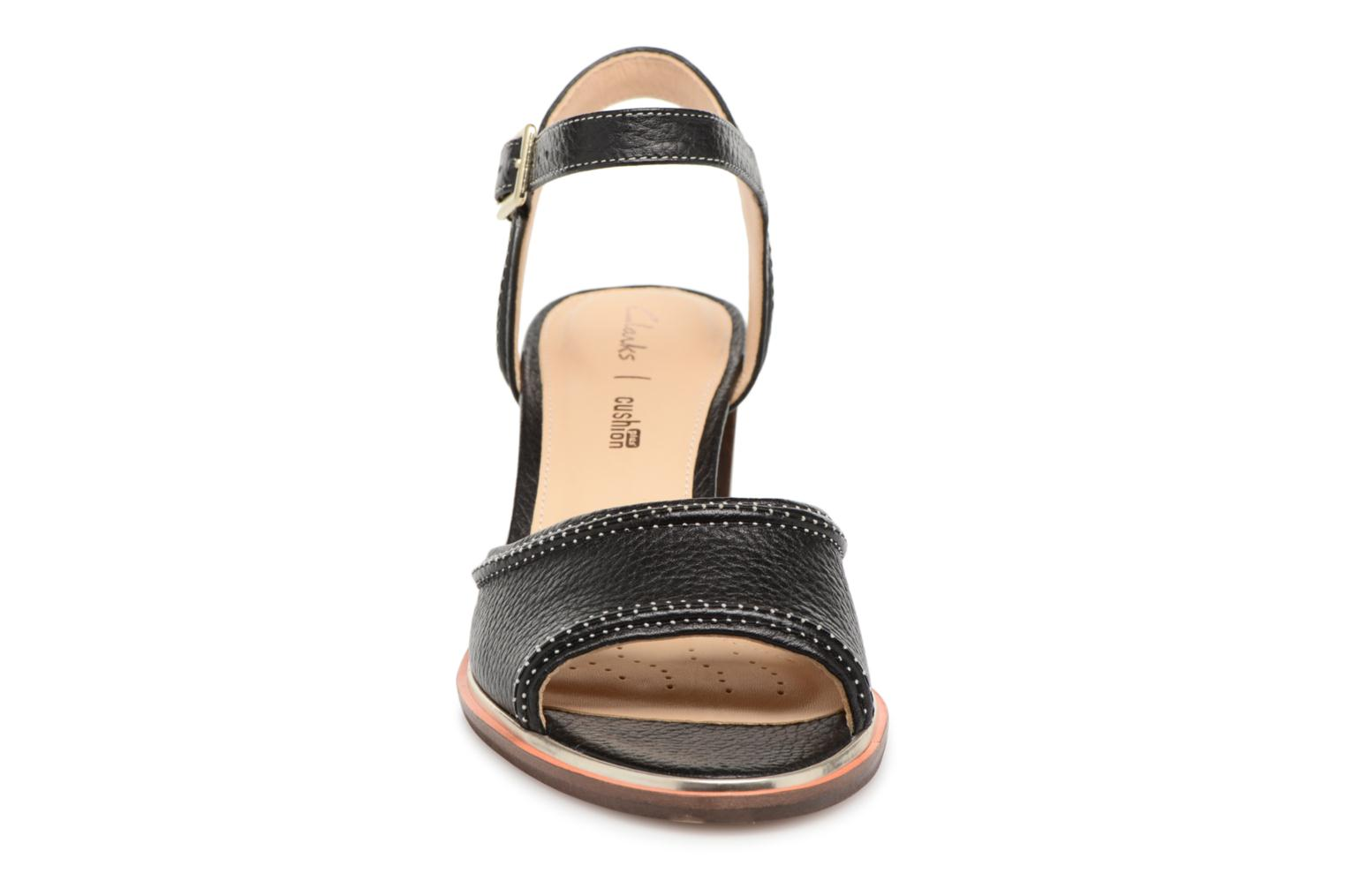 Sandals Clarks Ellis Clara Black model view