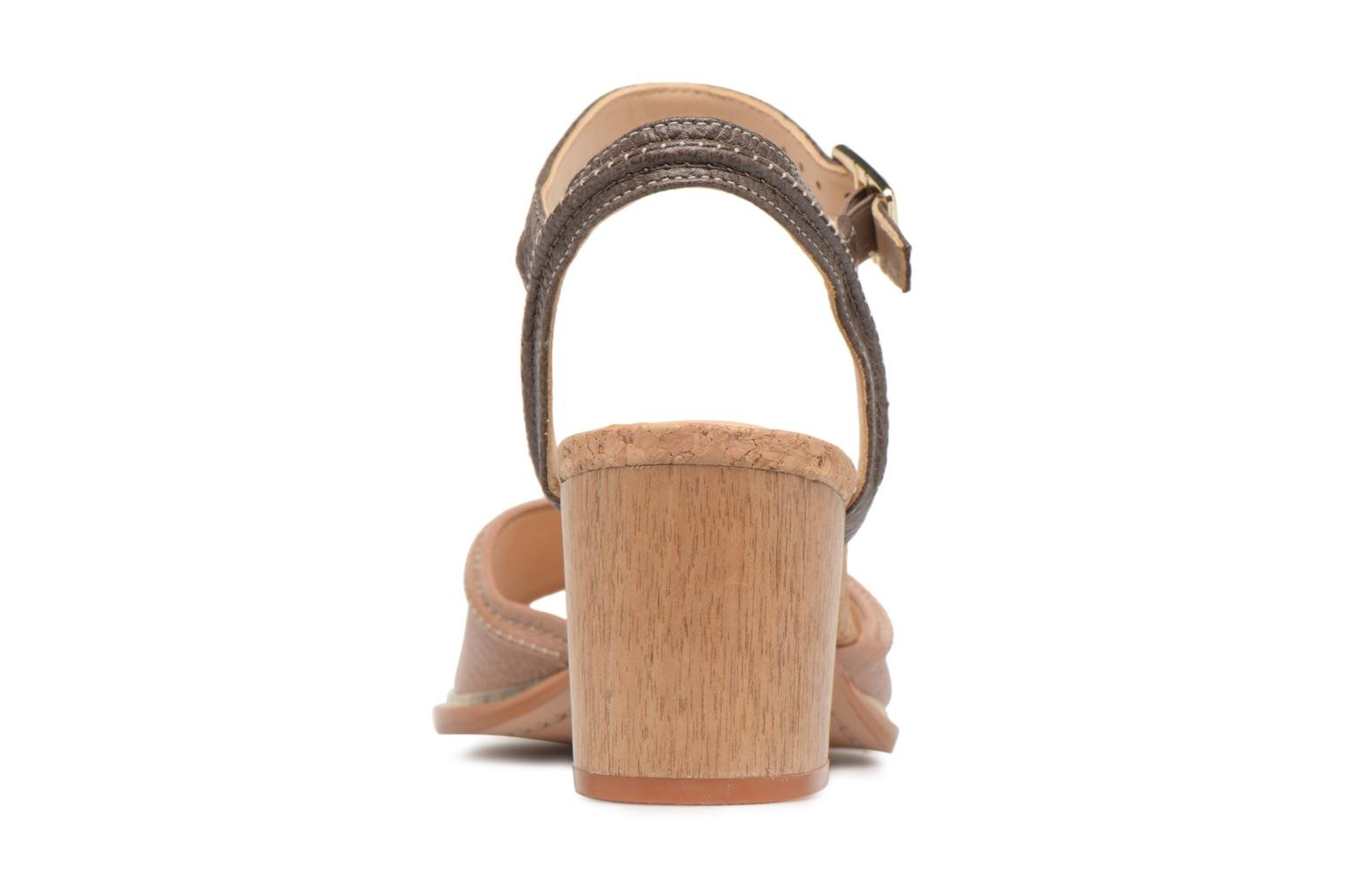 Sandals Clarks Ellis Clara Beige view from the right