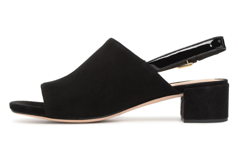 Sandales et nu-pieds Clarks Orabella Ivy Noir vue face