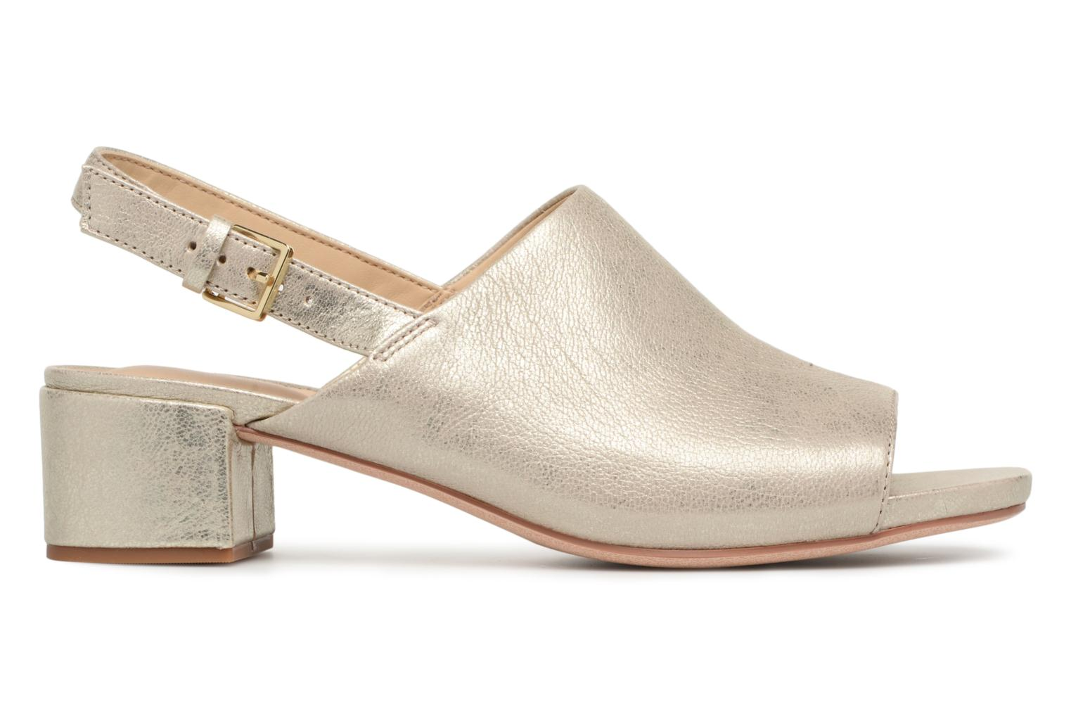 Sandals Clarks Orabella Ivy Bronze and Gold back view
