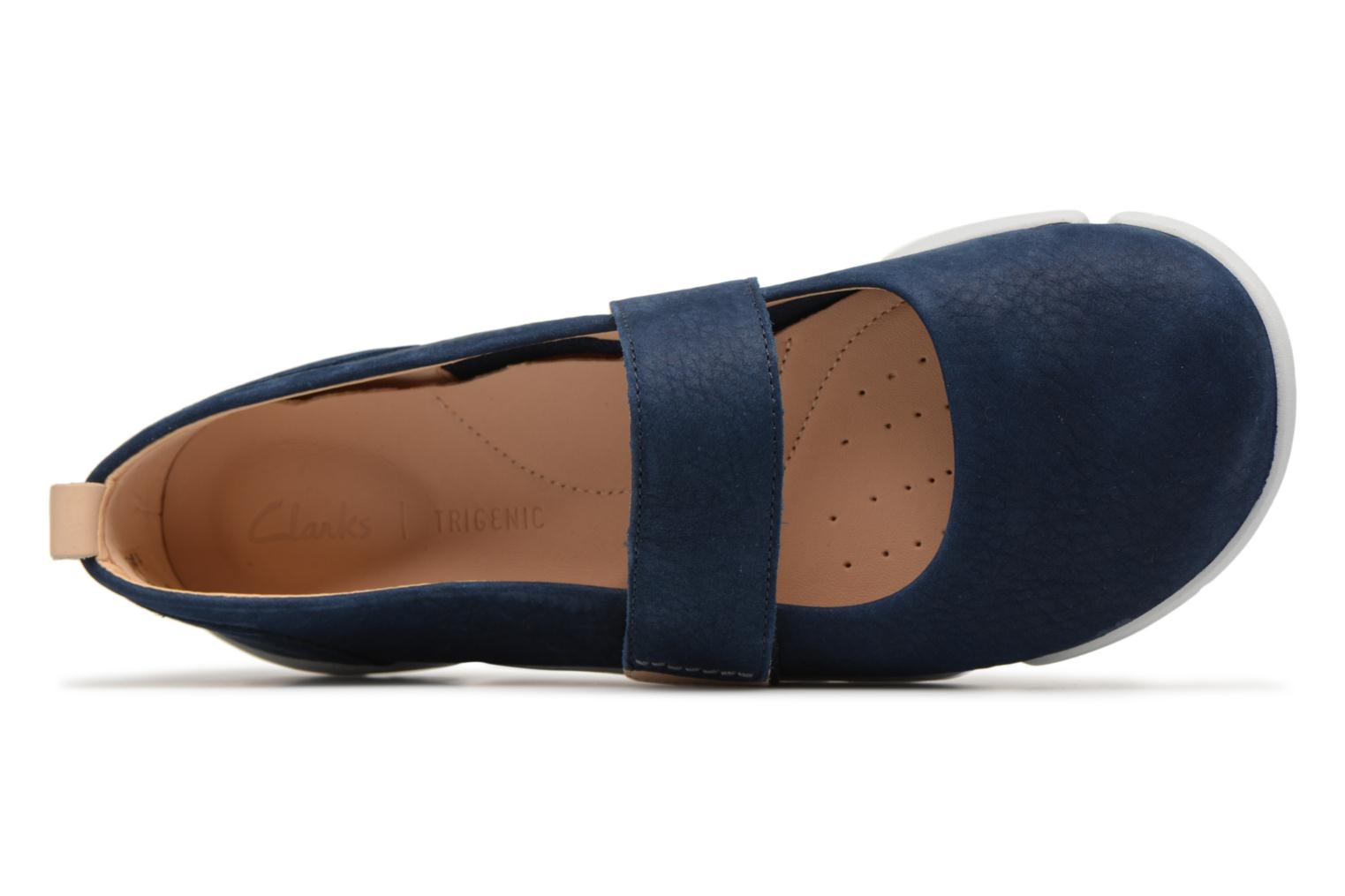 Ballet pumps Clarks Tri Carrie Blue view from the left