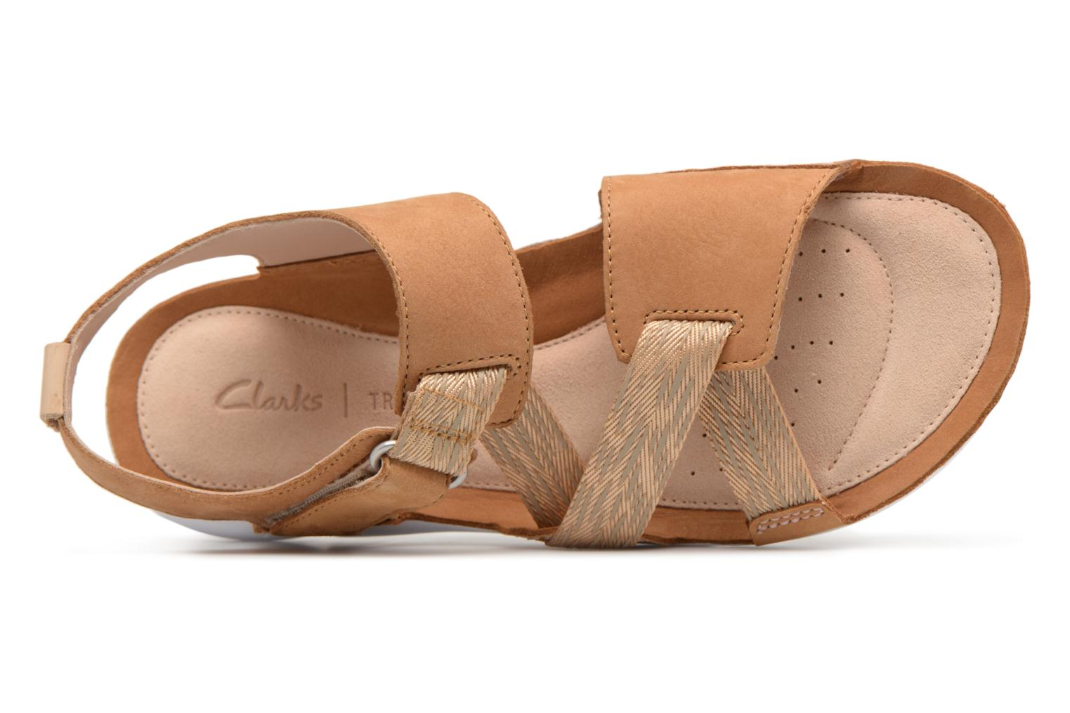 Sandals Clarks Tri Clover Beige view from the left