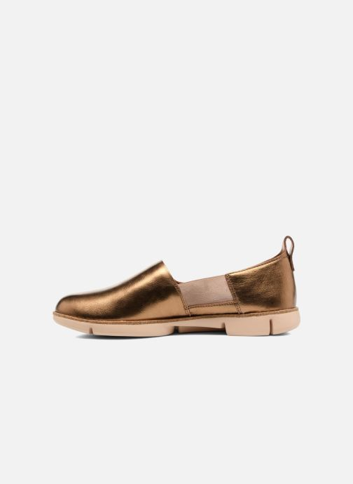 Trainers Clarks Tri Curve Bronze and Gold front view