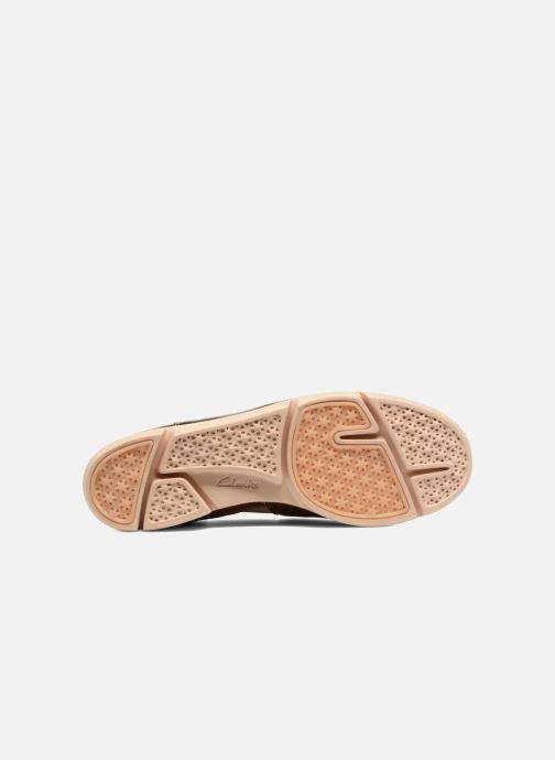 Baskets Clarks Tri Curve Or et bronze vue haut