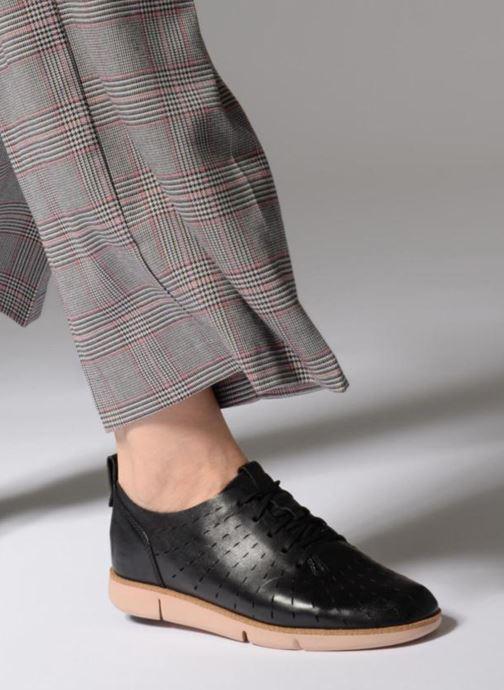 Zapatos con cordones Clarks Tri Etch Negro vista de abajo
