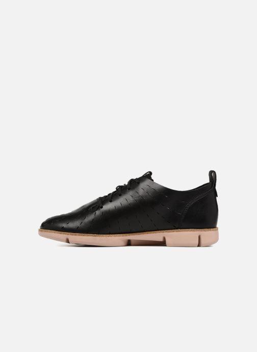 Zapatos con cordones Clarks Tri Etch Negro vista de frente