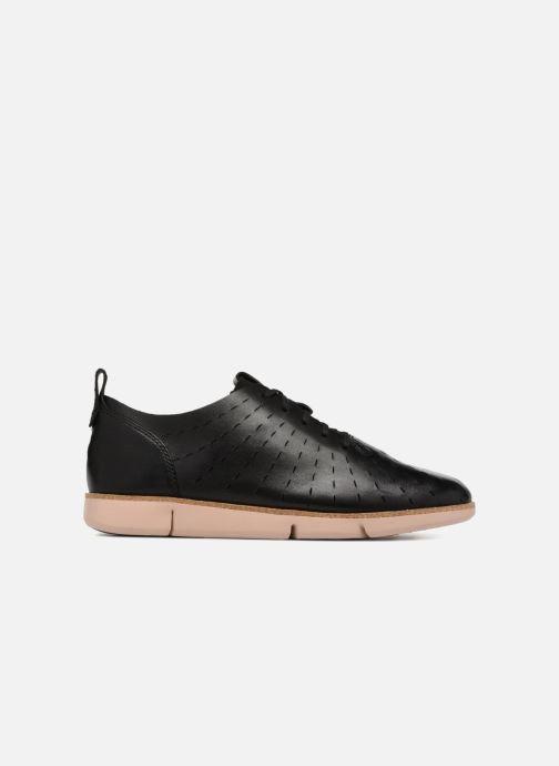 Zapatos con cordones Clarks Tri Etch Negro vistra trasera