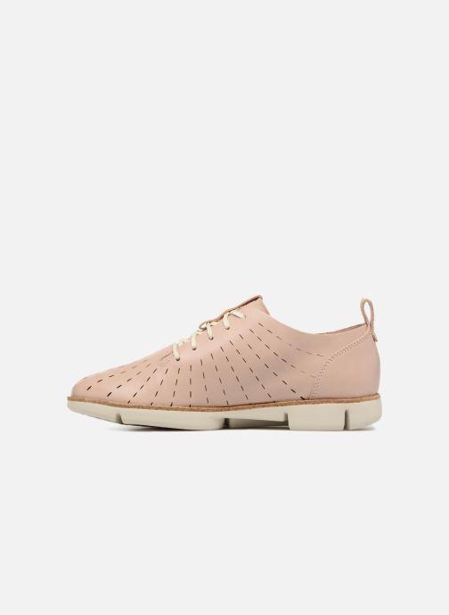 Chaussures à lacets Clarks Tri Etch Beige vue face