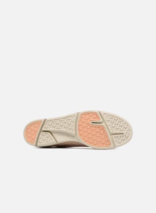 Chaussures à lacets Clarks Tri Etch Beige vue haut