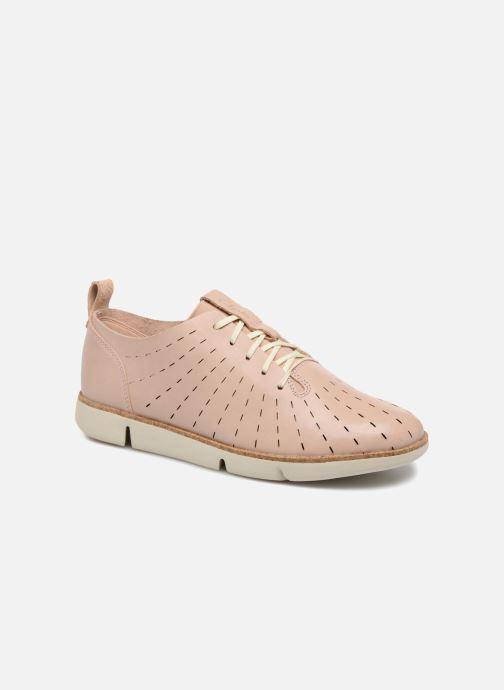 Chaussures à lacets Clarks Tri Etch Beige vue détail/paire