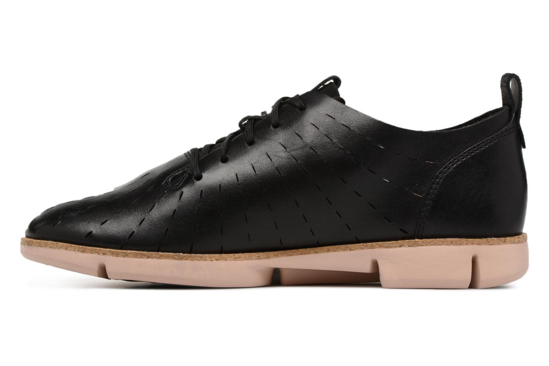 Lace-up shoes Clarks Tri Etch Black front view