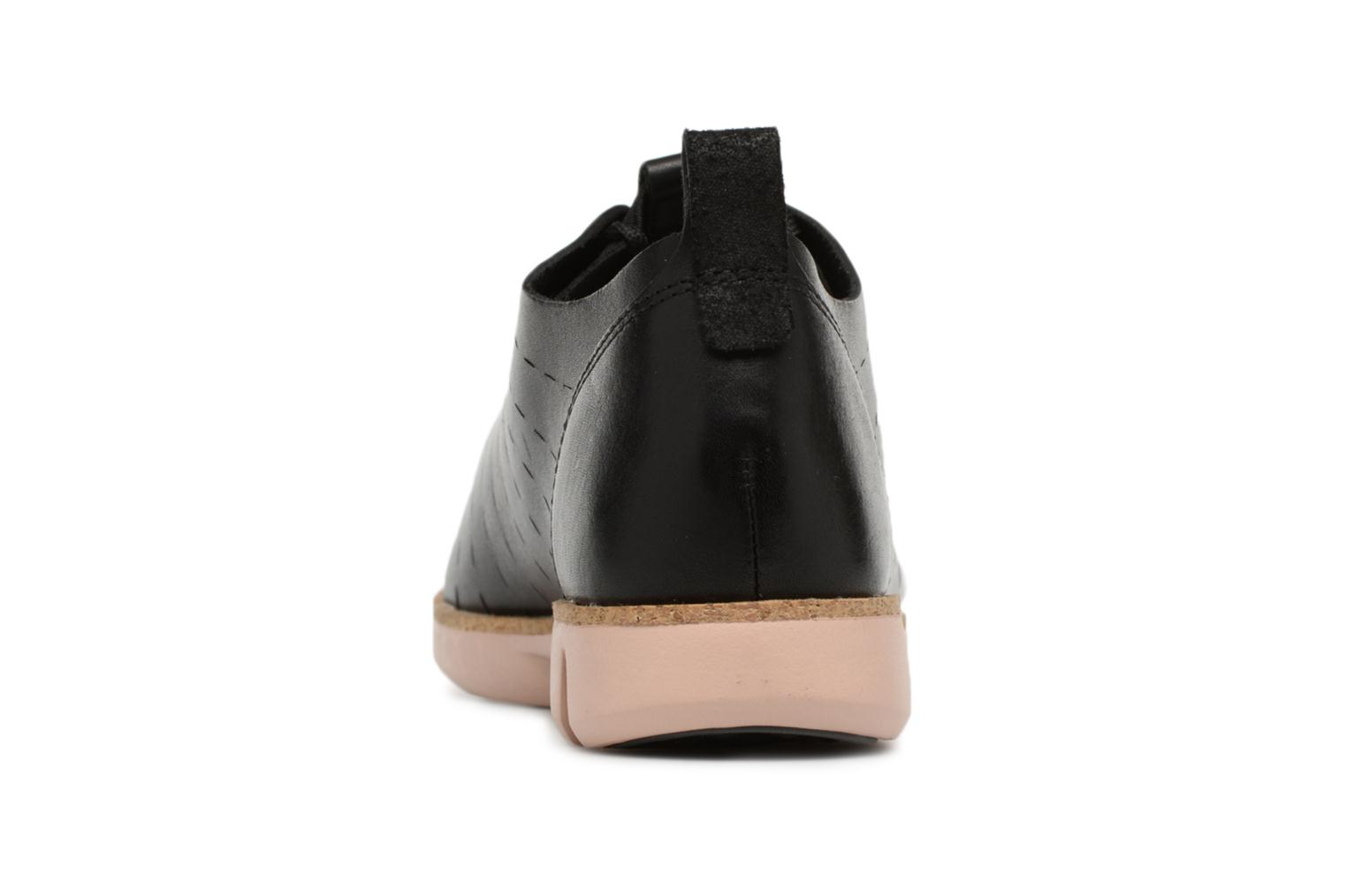 Lace-up shoes Clarks Tri Etch Black view from the right