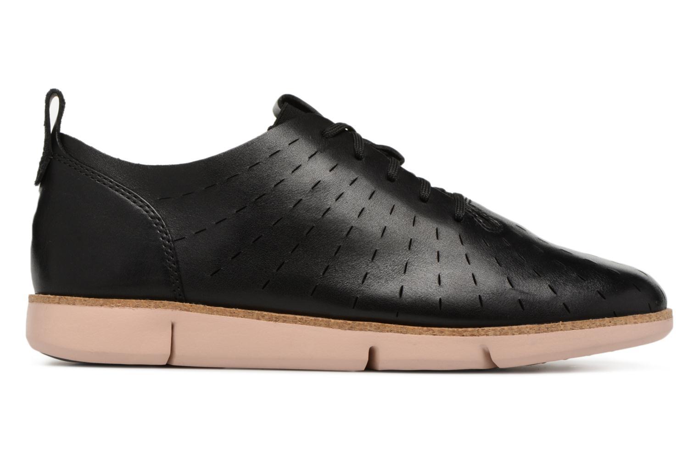 Lace-up shoes Clarks Tri Etch Black back view