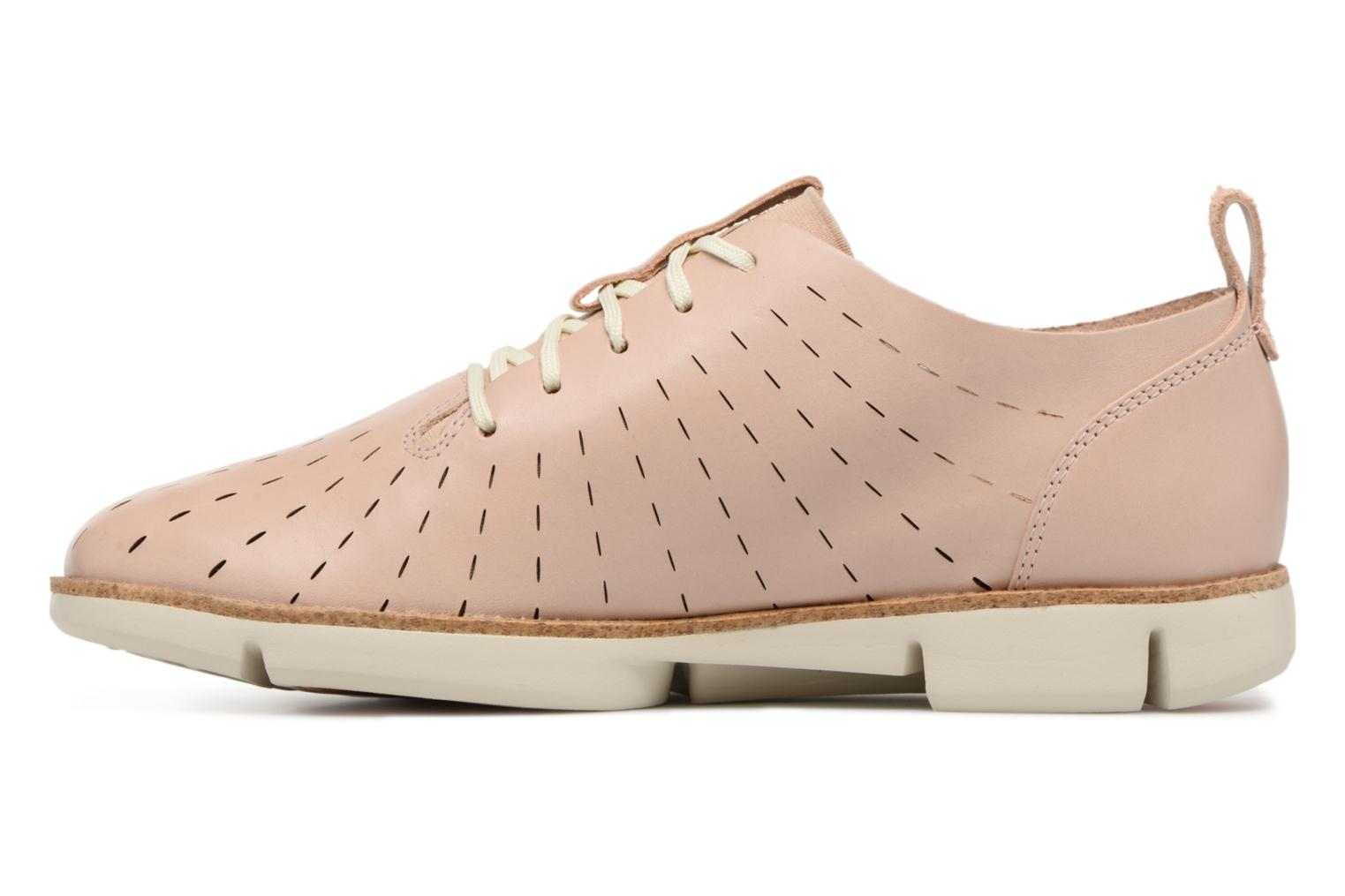 Lace-up shoes Clarks Tri Etch Beige front view