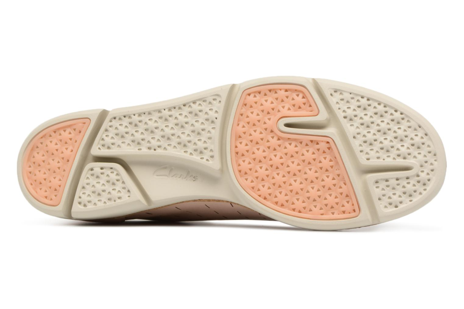 Lace-up shoes Clarks Tri Etch Beige view from above