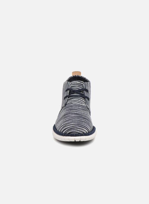 Chaussures à lacets Clarks MZT Liberty Bleu vue portées chaussures