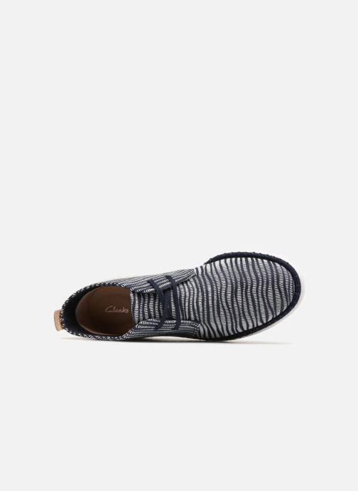 Zapatos con cordones Clarks MZT Liberty Azul vista lateral izquierda
