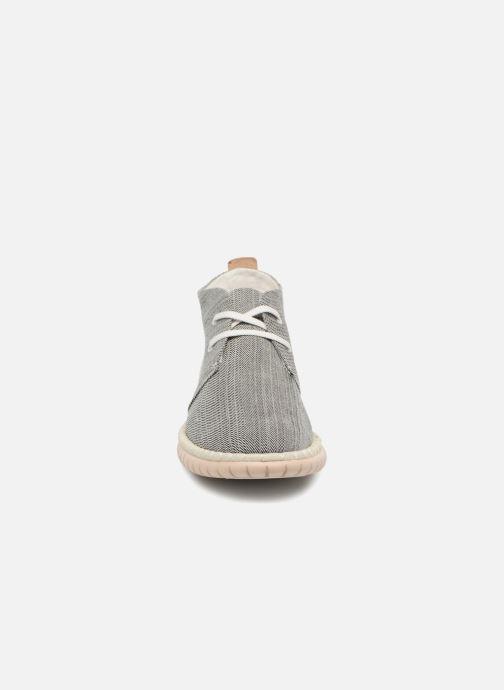 Schnürschuhe Clarks MZT Liberty grau schuhe getragen