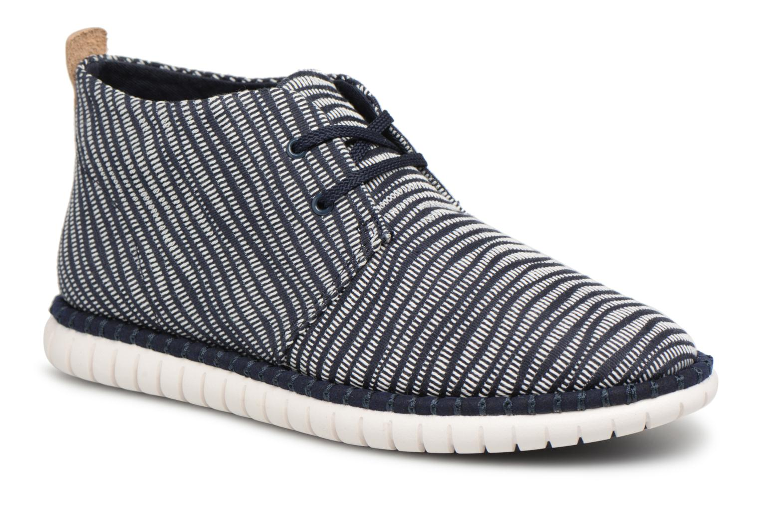 Lace-up shoes Clarks MZT Liberty Blue detailed view/ Pair view