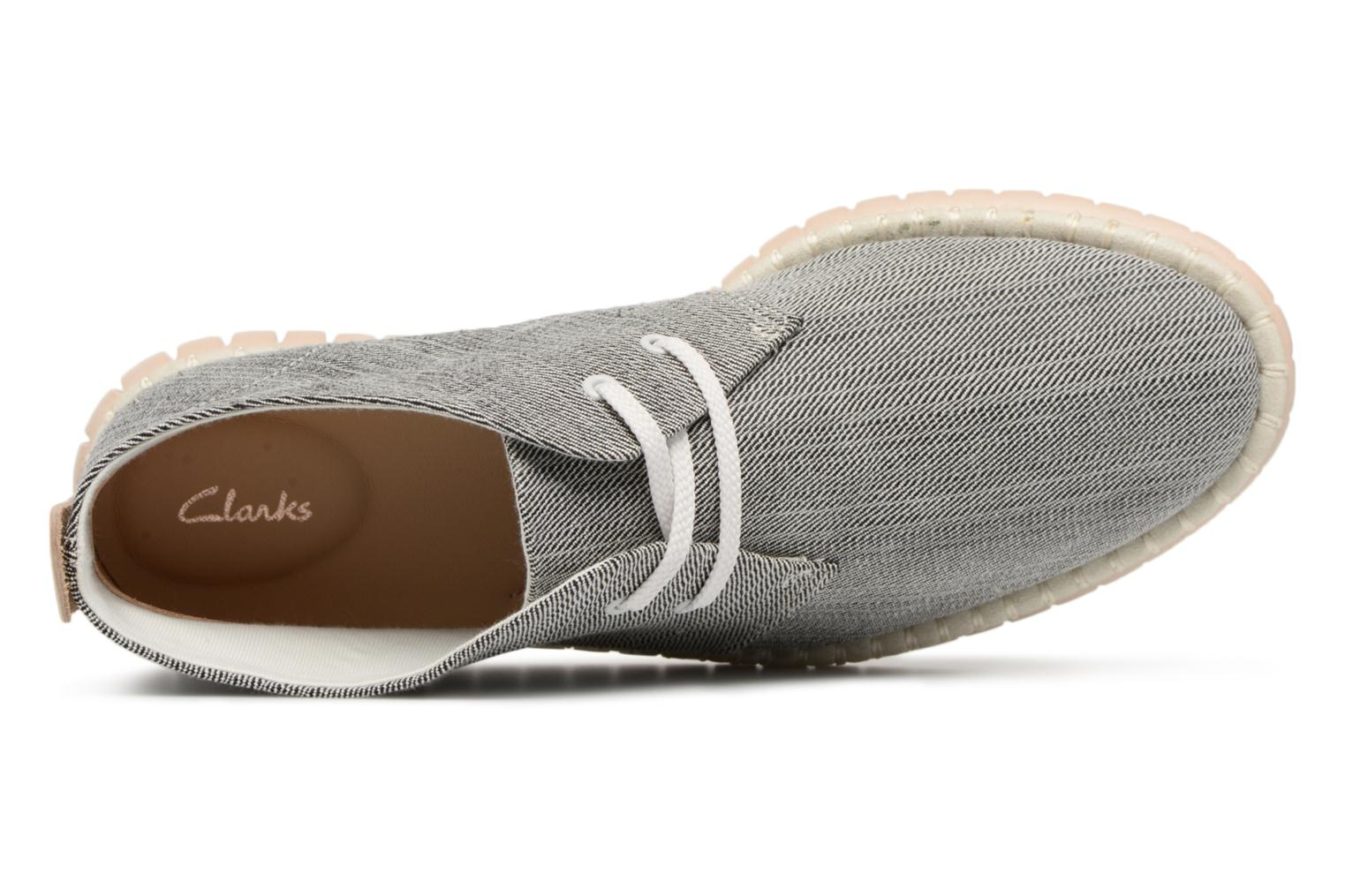 Lace-up shoes Clarks MZT Liberty Grey view from the left