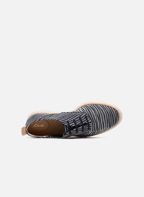 Snörade skor Clarks MZT Blithe Blå bild från vänster sidan