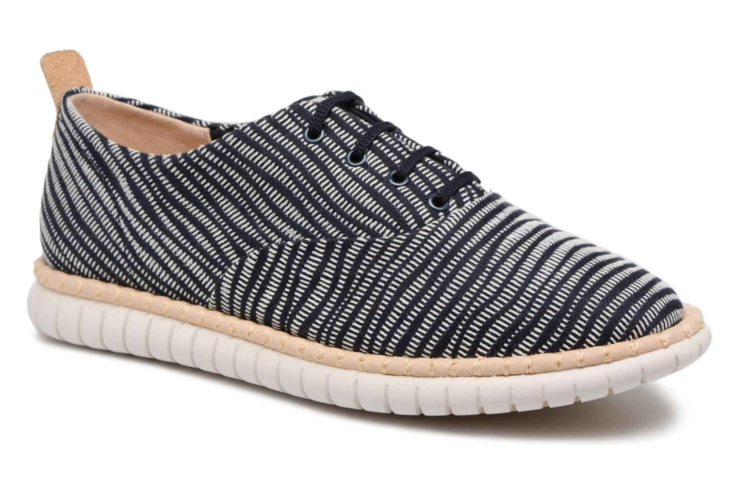 Lace-up shoes Clarks MZT Blithe Blue detailed view/ Pair view