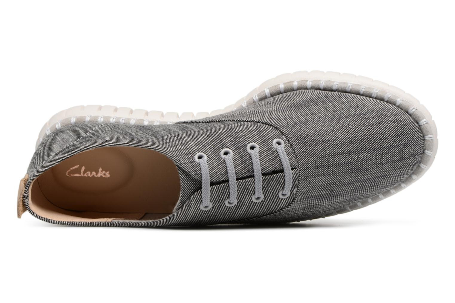 Lace-up shoes Clarks MZT Blithe Blue view from the left