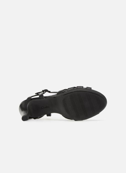 Sandales et nu-pieds Clarks Adriel wavy Noir vue haut