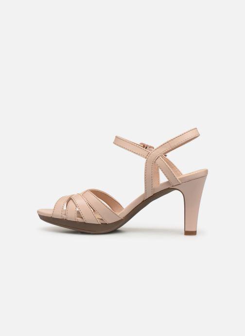 Sandalen Clarks Adriel wavy rosa ansicht von vorne