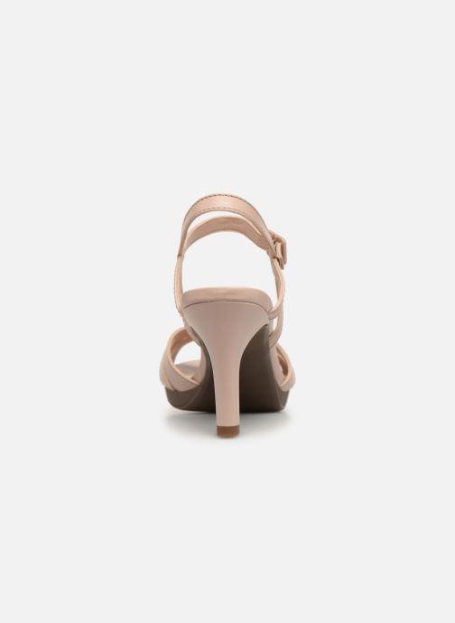 Sandalen Clarks Adriel wavy rosa ansicht von rechts