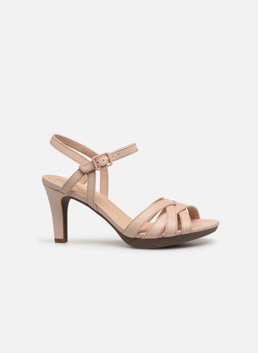 Sandales et nu-pieds Clarks Adriel wavy Rose vue derrière