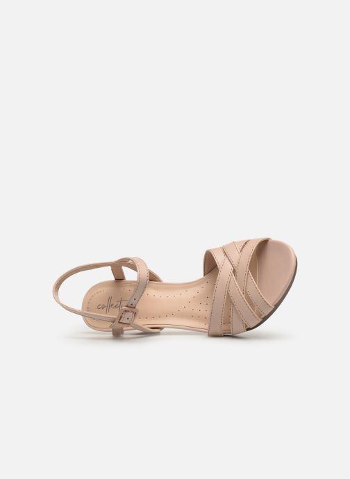 Sandales et nu-pieds Clarks Adriel wavy Rose vue gauche