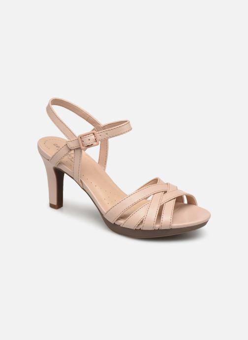 Sandaler Clarks Adriel wavy Pink detaljeret billede af skoene