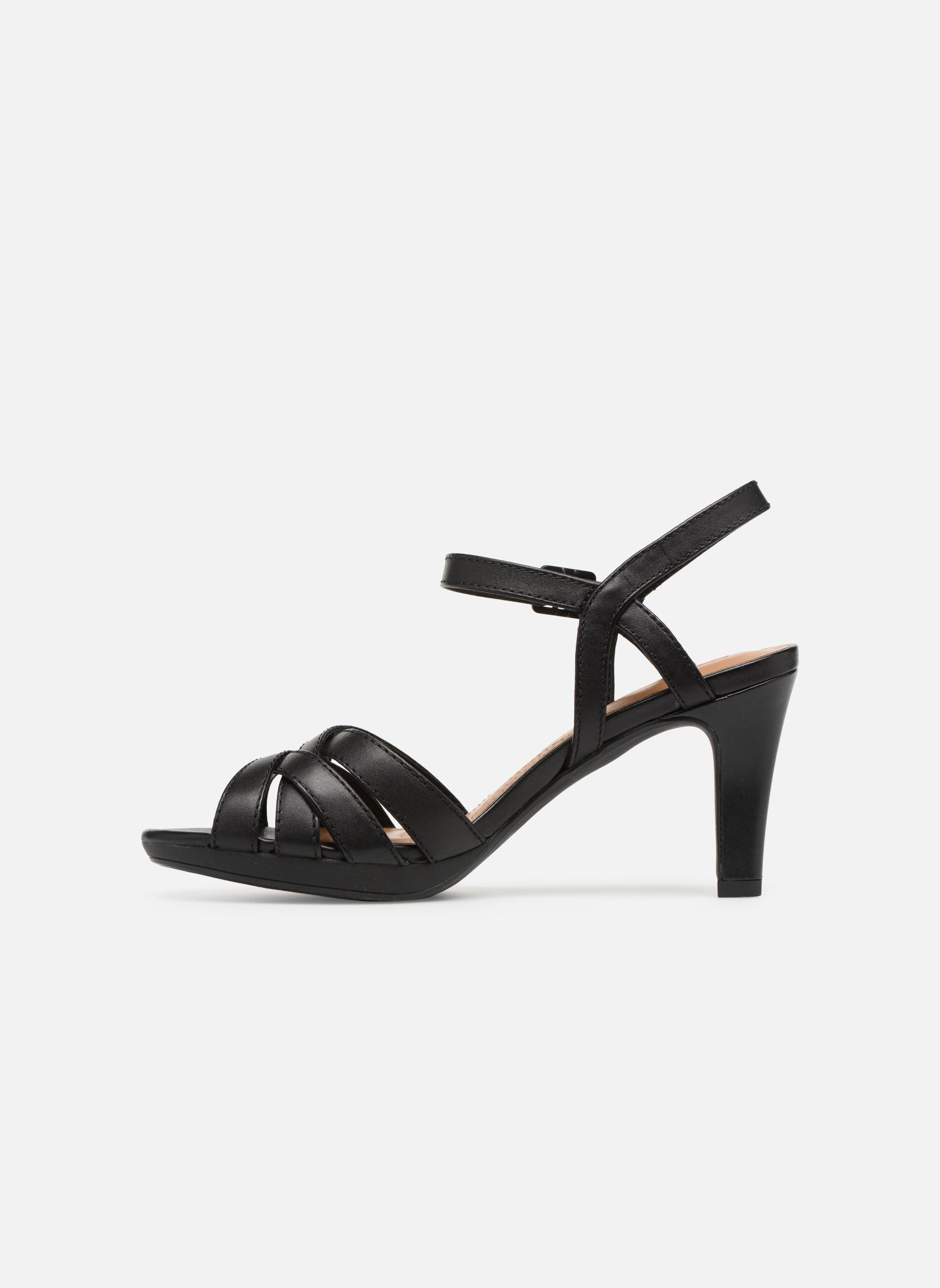 Sandales et nu-pieds Clarks Adriel wavy Noir vue face