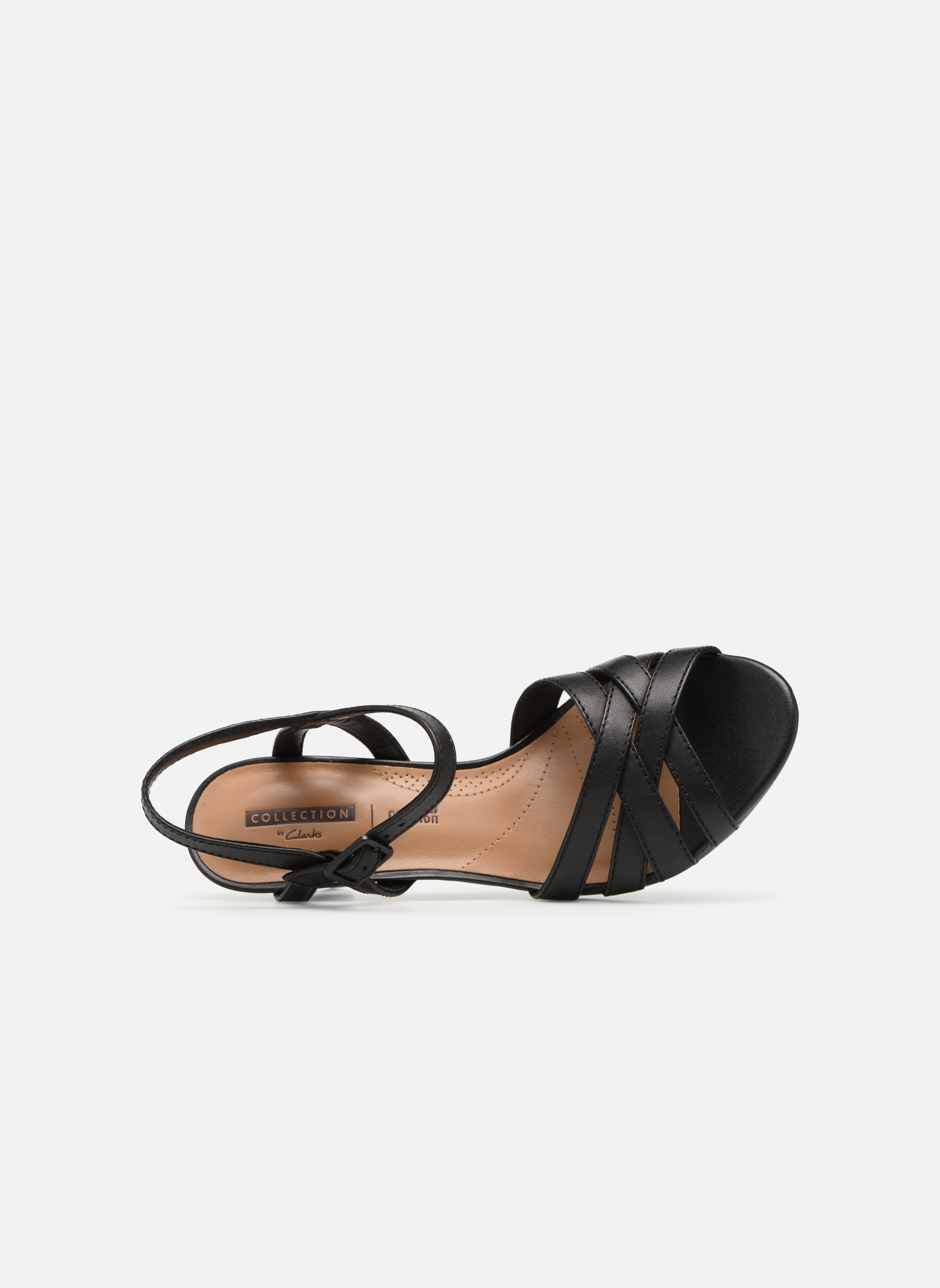 Sandals Clarks Adriel wavy Black view from the left