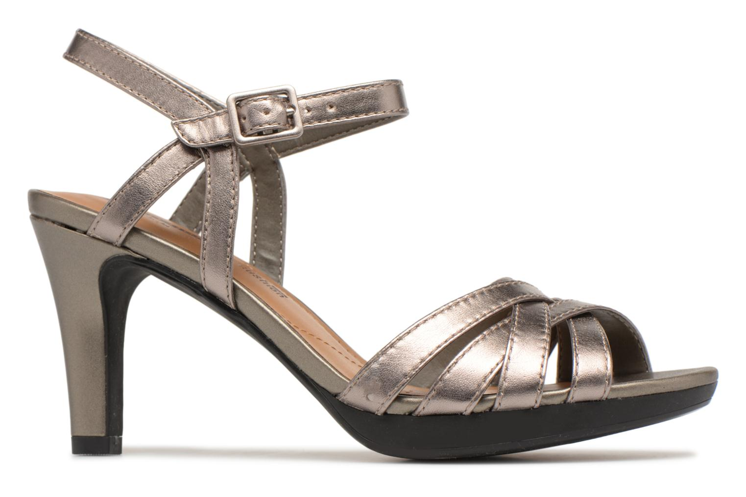 Sandals Clarks Adriel wavy Bronze and Gold back view
