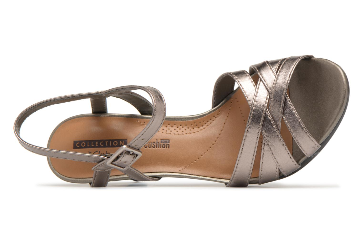 Sandals Clarks Adriel wavy Bronze and Gold view from the left