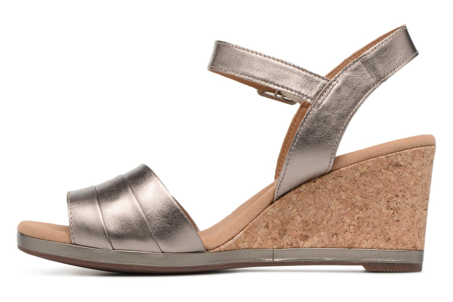Sandals Clarks Lafley aletha Bronze and Gold front view