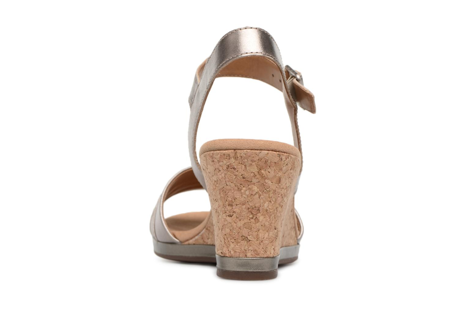 Sandals Clarks Lafley aletha Bronze and Gold view from the right